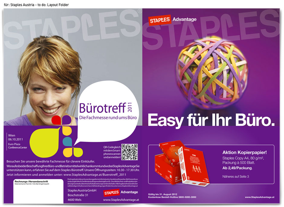 für: Staples Austria - to do: Layout Folder